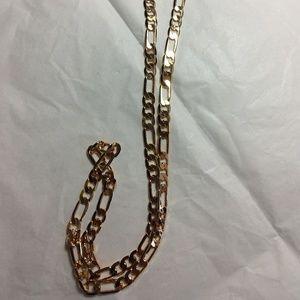 Mens Figaro Link Chain NWOT